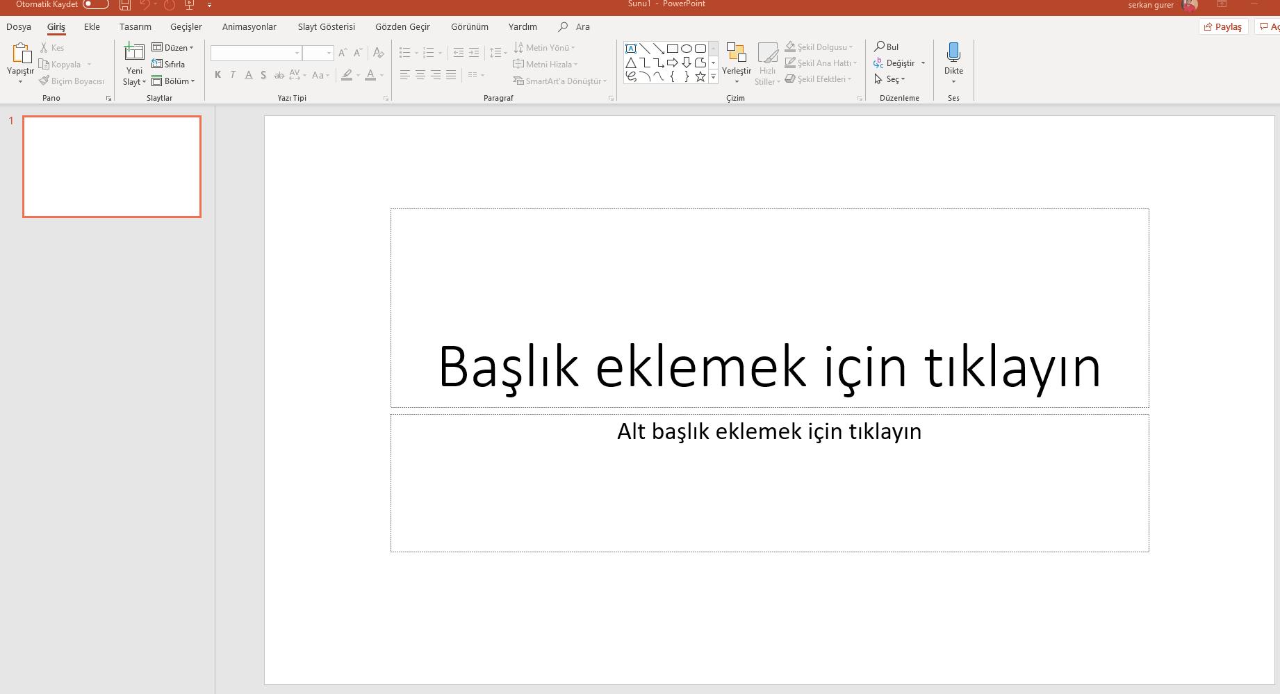 slayt nasıl yapılır powerpoint